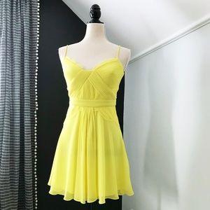 BCBG Katalina Lacey Swing Dress Yellow 4